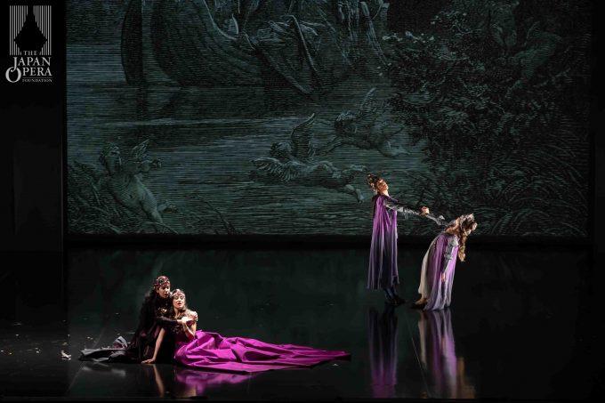 第2幕より フランチェスカ(レオノール・ボニッジャ)、パオロ(アンナ・ペンニージ)