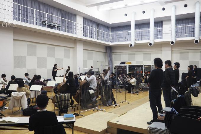 合唱のオーケストラ合わせ